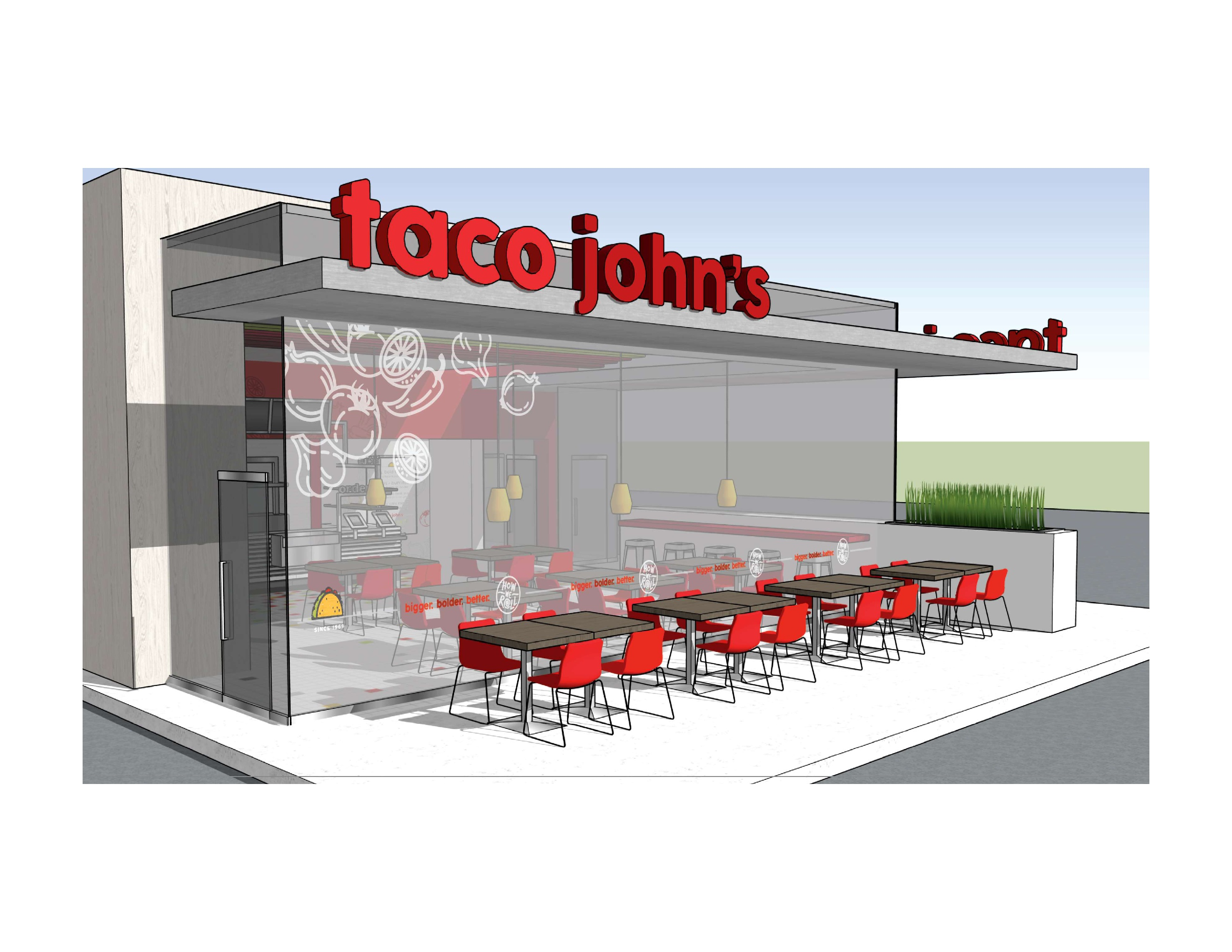 Taco Johns ext. seating 2